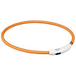 Flash lysring USB, L-XL: 65 cm/ø 7 mm, orange